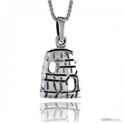 Sterling Silver Wigwam Pendant, 1/2 in tall