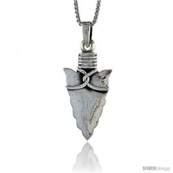 Sterling Silver Arrowhead Pendant, 1 tall