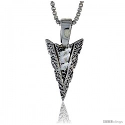 Sterling Silver Arrowhead Pendant, 3/4 in tall