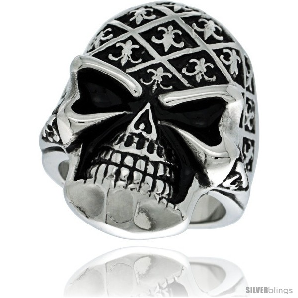 https://www.silverblings.com/7422-thickbox_default/surgical-steel-biker-skull-ring-decorated-w-fleur-de-lis.jpg