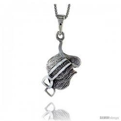 Sterling Silver Saddle Pendant, 1 in tall
