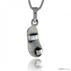Sterling Silver Slippers Pendant, 5/8 in tall -Style Pa508