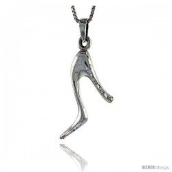 Sterling Silver High Heels Pendant, 3/4 in tall