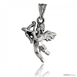 Sterling Silver Cupid Pendant 5/8 in tall -Style Pa535
