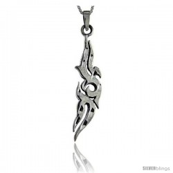 Sterling Silver Tribal Pendant, 2 3/16 in tall -Style Pa54
