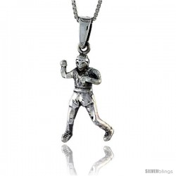 Sterling Silver Boxer Pendant, 1 1/4 in tall