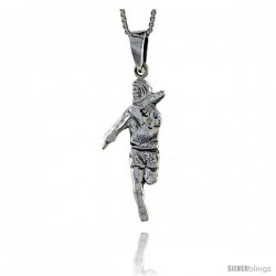 Sterling Silver High Jumper Pendant, 1 3/8 in tall