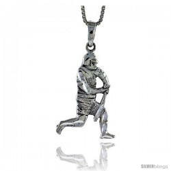 Sterling Silver Baseball Pendant, 1 3/8 in tall -Style Pa579