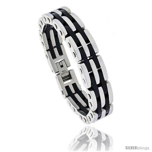 https://www.silverblings.com/750-thickbox_default/gents-stainless-steel-rubber-bar-bracelet-5-8-in-wide-8-in-long.jpg