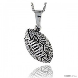 Sterling Silver Football Pendant, 1 in