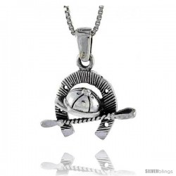 Sterling Silver Horse Jockey's Accessories Pendant, 1 in