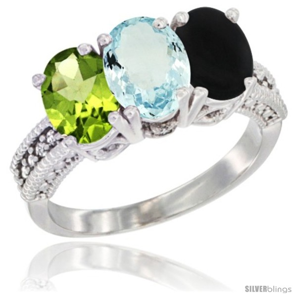 https://www.silverblings.com/75239-thickbox_default/10k-white-gold-natural-peridot-aquamarine-black-onyx-ring-3-stone-oval-7x5-mm-diamond-accent.jpg