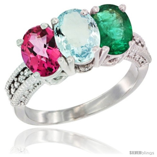 https://www.silverblings.com/75267-thickbox_default/10k-white-gold-natural-pink-topaz-aquamarine-emerald-ring-3-stone-oval-7x5-mm-diamond-accent.jpg