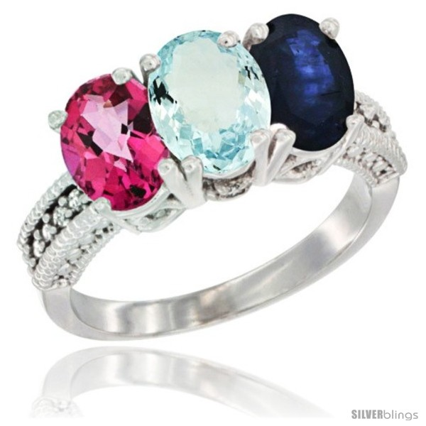 https://www.silverblings.com/75269-thickbox_default/10k-white-gold-natural-pink-topaz-aquamarine-blue-sapphire-ring-3-stone-oval-7x5-mm-diamond-accent.jpg