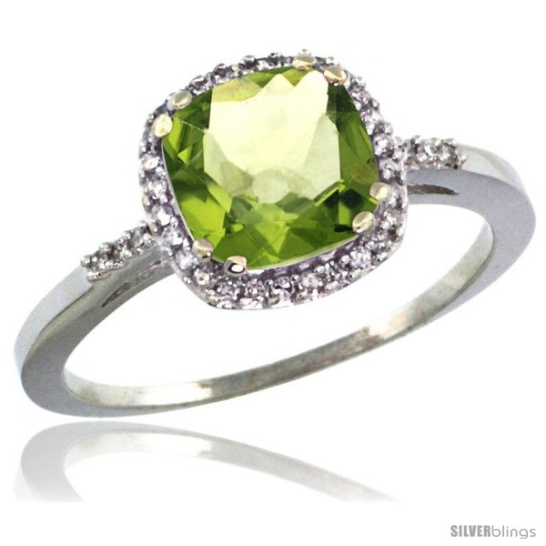 https://www.silverblings.com/75411-thickbox_default/10k-white-gold-diamond-peridot-ring-1-5-ct-checkerboard-cut-cushion-shape-7-mm-3-8-in-wide.jpg
