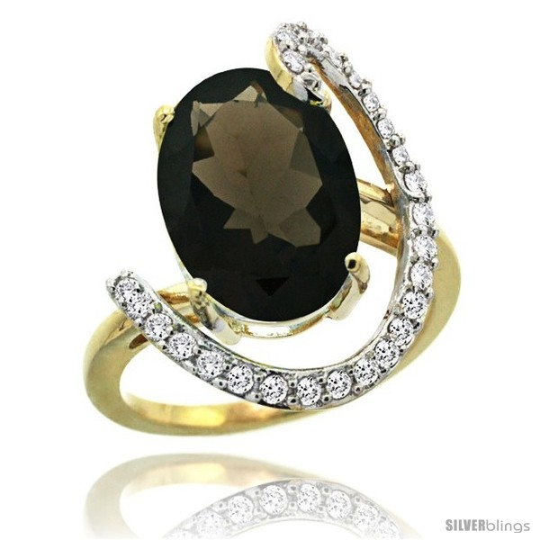 https://www.silverblings.com/75445-thickbox_default/14k-gold-natural-smoky-topaz-ring-oval-14x10-diamond-accent-3-4inch-wide.jpg
