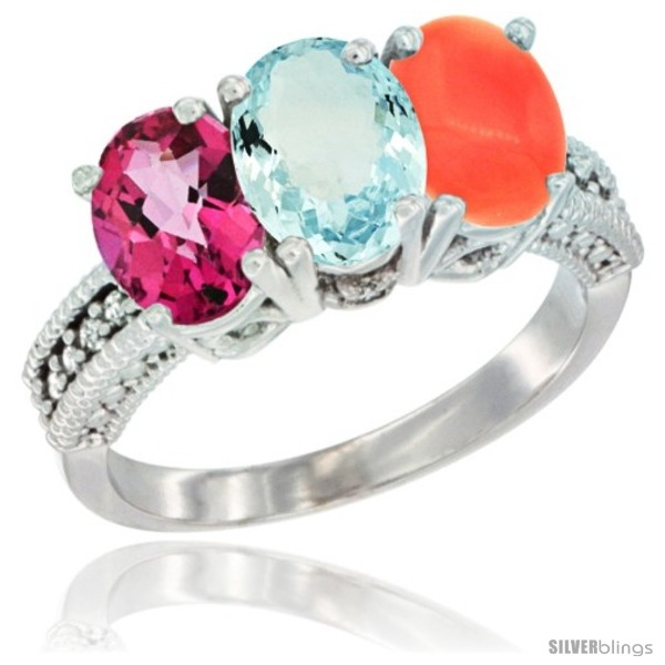 https://www.silverblings.com/75529-thickbox_default/10k-white-gold-natural-pink-topaz-aquamarine-coral-ring-3-stone-oval-7x5-mm-diamond-accent.jpg