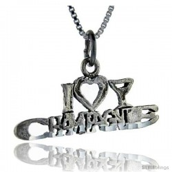 Sterling Silver I Love Champagne Talking Pendant, 1 in wide