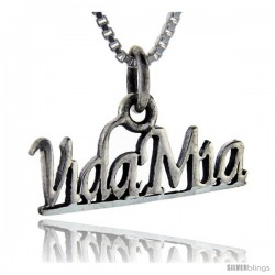 Sterling Silver Vida Mia Talking Pendant, 1 in wide
