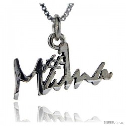 Sterling Silver No. 1 Mama Talking Pendant, 1 in wide