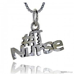 Sterling Silver No. 1 Nurse Talking Pendant, 1 in wide