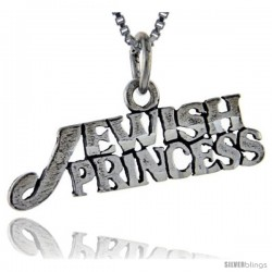 Sterling Silver Jewish Princess Talking Pendant, 1 in wide
