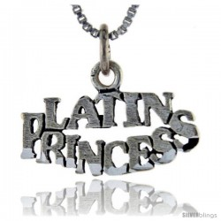 Sterling Silver Latin Princess Talking Pendant, 1 in wide