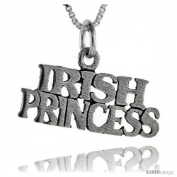 Sterling Silver Irish Princess Talking Pendant, 1 in wide