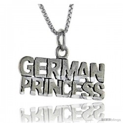 Sterling Silver German Princess Talking Pendant, 1 in wide