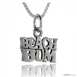 Sterling Silver Beach Bum Talking Pendant, 1 in wide