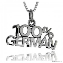 Sterling Silver 100 Percent German Talking Pendant, 1 in wide