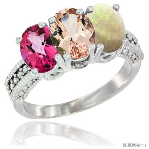 https://www.silverblings.com/76126-thickbox_default/10k-white-gold-natural-pink-topaz-morganite-opal-ring-3-stone-oval-7x5-mm-diamond-accent.jpg