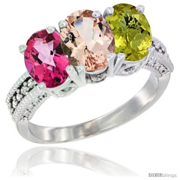 https://www.silverblings.com/76132-thickbox_default/10k-white-gold-natural-pink-topaz-morganite-lemon-quartz-ring-3-stone-oval-7x5-mm-diamond-accent.jpg