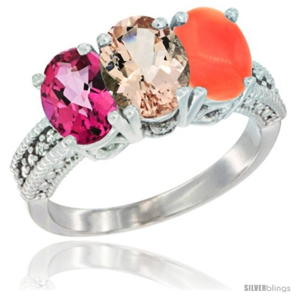 https://www.silverblings.com/76146-thickbox_default/10k-white-gold-natural-pink-topaz-morganite-coral-ring-3-stone-oval-7x5-mm-diamond-accent.jpg