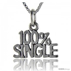 Sterling Silver 100 Percent Single Talking Pendant, 1 in wide