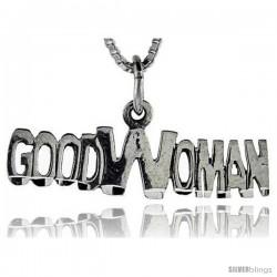 Sterling Silver Good Woman Talking Pendant, 1 in wide