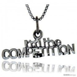 Sterling Silver I'm the Competition Talking Pendant, 1 in wide