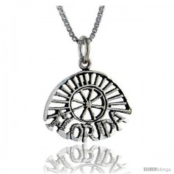Sterling Silver Florida Talking Pendant, 1 in wide -Style Pa876