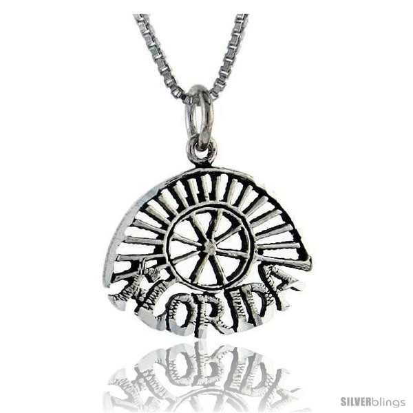 https://www.silverblings.com/76301-thickbox_default/sterling-silver-florida-talking-pendant-1-in-wide-style-pa876.jpg