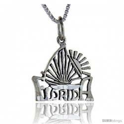 Sterling Silver Florida Talking Pendant, 1 in wide -Style Pa879