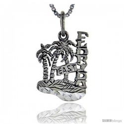 Sterling Silver Florida East Talking Pendant, 1 in wide