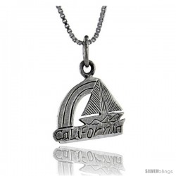 Sterling Silver California Talking Pendant, 1 in wide -Style Pa884