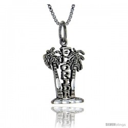 Sterling Silver Florida Talking Pendant, 1 in wide -Style Pa886