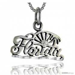 Sterling Silver Florida Talking Pendant, 1 in wide -Style Pa889