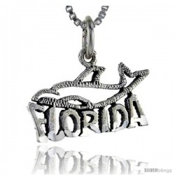 Sterling Silver Florida Talking Pendant, 1 in wide -Style Pa890