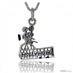 Sterling Silver Hollywood Talking Pendant, 1 in wide