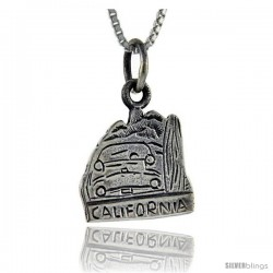 Sterling Silver California Talking Pendant, 1 in wide -Style Pa892