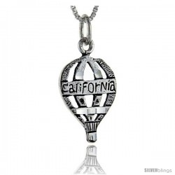 Sterling Silver California Talking Pendant, 1 in wide -Style Pa893