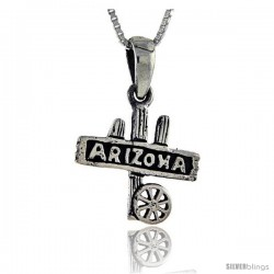 Sterling Silver Arizona Talking Pendant, 1 in wide