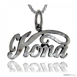 Sterling Silver Kona Talking Pendant, 1 in wide